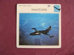 GRUMMAN F9F Panther   FICHE AVION Avec Description  Aircraft Aviation - Airplanes
