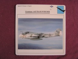 GRUMMAN A6E TRAM Intruder   FICHE AVION Avec Description  Aircraft Aviation - Vliegtuigen
