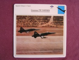GRUMMAN F9F Panther  FICHE AVION Avec Description  Aircraft Aviation - Vliegtuigen