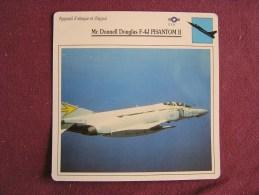 MCDONNELL DOUGLAS F-4J Phantom II     FICHE AVION Avec Description  Aircraft Aviation - Vliegtuigen