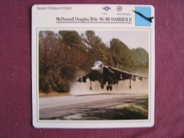 MCDONNELL DOUGLAS BAe AV-8B Harrier II     FICHE AVION Avec Description  Aircraft Aviation - Vliegtuigen