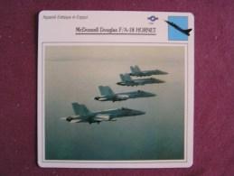MCDONNELL DOUGLAS F-18 A  Hornet     FICHE AVION Avec Description  Aircraft Aviation - Vliegtuigen