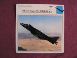 MCDONNELL DOUGLAS AV-8B Harrier II N A  FICHE AVION Avec Description  Aircraft Aviation - Vliegtuigen