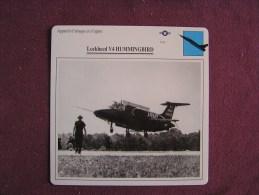 LOCKHEED V4 Hummingbird  FICHE AVION Avec Description  Aircraft Aviation - Avions