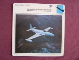 LOCKHEED F-80 Shooting Star  FICHE AVION Avec Description  Aircraft Aviation - Vliegtuigen