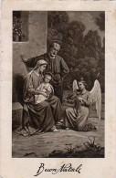 AK ENGEL ANGEL  Engel Spielt Die Geige Baby Jesus ALTE POSTKARTE 1931 - Anges