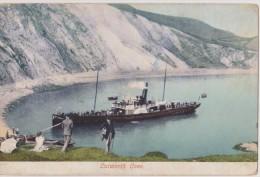 ROYAUME-UNI,ANGLETERRE,EN GLAND,UNITED  KINGDOM,LULWORTH COVE,1900,carte Ancienne,old,bateau à Vapeur,DORSET,BEACH - Angleterre