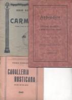 3 LIBRETOS COMPLETOS  APHRODITE DRAME MUSICAL PIERRE LOUYS THEOPILE PUGET ET GABRIEL BERNARD A. LUZZATTI JORGE BIZET CAR - Arts, Hobbies