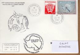 TAAF PLI TERRE ADELIE.57ème EXP. OBL. DUMONT D URVILLE 25 11 2007 TB. Voir Photo. - Terres Australes Et Antarctiques Françaises (TAAF)