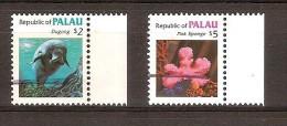 Palau  1984 Yvertn° 55-56 (°) Oblitéré Used Cote 25 Euro Faune Marine - Palau