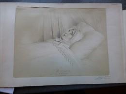 Madame Récamier,  Très Fine  LITHO Originale DEVERIA Achille  Ref 357 G02 - Estampes & Gravures