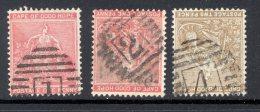CAPE Of GOOD HOPE, Barred Numeral Postmark Nrs 1, 2, 4 (wmk Crown CA) - Kaap De Goede Hoop (1853-1904)