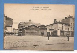 49     CHOLET LA PLACE ROUGE  CAFE  1927    ECRITE VOIR LES 2 SCANS - Cholet