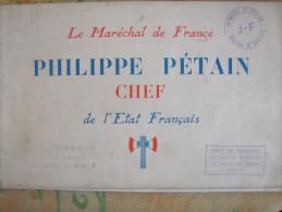 MARECHAL PETAIN CHEF DE L ETAT FRANCAIS PROPAGANDE JEUNESSE SECTION SANNOIS - Documentos Históricos