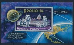 **Hungary 1971 Mi 2661 A Block 80A Astronaut Moon Space MNH - Ungebraucht