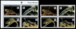 (029+36) Madagascar   WWF Animals / Animaux / Tiere / Dieren / Chameleon / Error And New Issue ** / Mnh  Michel 2313-17 - W.W.F.