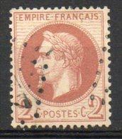 FRANCE - 1863-70 - Napoléon III, Lauré - N° 26B - 2 C. Rouge-brun Clair - (Oblitération : Losange Gros Chiffres) - 1863-1870 Napoleon III With Laurels