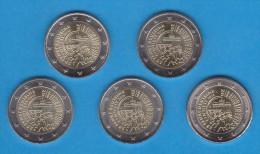 """Alemania / Germany / Deutschland  2015 5 MINTS 2€ Bimetalica  SC/UNC  """"25ª Aniversario De La Reunificación """" T-DL-11.188 - Germany"""