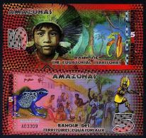 Equatorial Territories, Amazonas (Brazil), 5 E Francs, POLYMER, 2014, UNC - Banconote