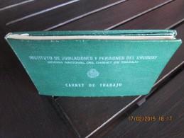 URUGUAY - Old CARNET DE TRABAJO - CARTE DE TRAVAIL - Sin Utilizar - Not Used - Documentos Históricos