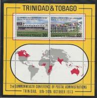 TRINIDAD & TOBAGO 2nd COMMONWEALTH CONFERENCE Of POSTAL ADMINISTRATIONS MNH 1973 - Trinidad & Tobago (1962-...)