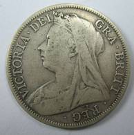 UK GREAT BRITAIN ENGLAND HALF CROWN 1898 SILVER VICTORIA LOT  8 MOVED TO  LOT 100 - K. 1/2 Crown