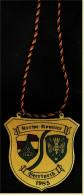 Messing-Plakette In Wappenform  -  Kerwe-Komitee Beerfurth 1985  -  Ca. 7,5 X 7,5 Cm - Saisonales & Feste