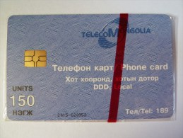 MONGOLIA - Mint Blister - Chip - 150 Units - MON-9 - Mongolei