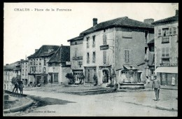 Cpa Du 87  Chalus - Place De La Fontaine   JA15 36 - Chalus