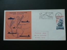 1er Jour De La Flamme Centre Radiomaritime De Saint-Lys Radio Navires En Mer - Radio Telecommunications At Sea - 1976 - Bateaux