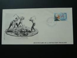 FDC Bicentenaire De La Révolution Francaise Philexfrance 1989 Sierra Leone - French Revolution