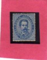 ITALIA REGNO  ITALY KINGDOM 1879 RE UMBERTO I KING CENT. 25 BEN CENTRATO MLH FIRMATO SIGNED - Mint/hinged