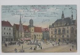 Halle.Marktplatz. Kriegsgefangonen Seidung. - Halle (Saale)