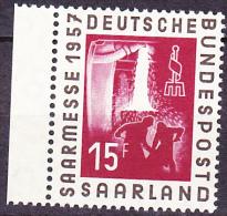 Saargebiet Saar Sarre - Saarmesse 1957  - Postfrisch MNH - Unused Stamps