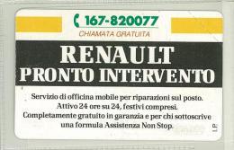 Carte Telefoniche: Renault - Pronto Intervento Emissione 1995 N. Verde 167-820077  - Nuova - Omaggio  - T - POLAROID - Italie