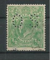 PER079 - AUSTRALIA - PERFIN N. 18 - 1/2 P.. RE GIORGIO V - CATALOGO YVERT - Used Stamps