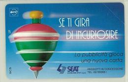 Carte Telefoniche: Se Ti Gira Di Incuriosire ( Azzurra )  - Nuova - Omaggio  - Man - Mantegazza - Italie