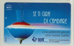 Carte Telefoniche: Se Ti Gira Di Cambiare  ( Azzurra )  - Nuova - Omaggio  - Man - Mantegazza - Italie