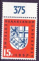 Saargebiet Saar Sarre - Saar In BRD 1957  - Postfrisch MNH - Unused Stamps