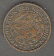 PAESI BASSI 1 CENT 1917 - 1 Cent
