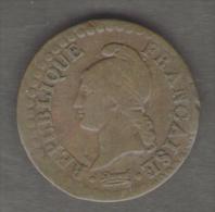 FRANCIA 1 CENTIME AN 6 (A: PARIS) 1797-98 DIRECTOIRE 1795 - 1799 - Francia