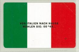 Carte Telefoniche: RARA - Von Italien Nach Hause Wahlen Sie : 00 * 49…  - Nuova - 5000  - Man - Mantegazza - TRICOLORE - Italie
