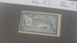 LOT 245986 TIMBRE DE FRANCE NEUF** N�123 VALEUR 325 EUROS