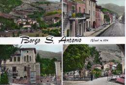 MARCHE-MACERATA-BORGO S.ANTONIO VISSO VEDUTE MULTIPLE ANNI/50/60 - Italia