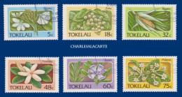 TOKELAU 1987 FLOWERS FINE USED S.G. 142-147  FLEURS OBLIT.