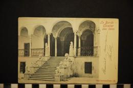 CP, Tunisie, TUNIS Le Bardo Escalier Des Lions Photo Garrigues Tunis N°142 Dos Simple Precurseur - Tunisie