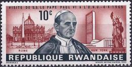 Rwanda 1966 - The Pope Paul VI ( Mi 153 ) MNH
