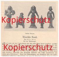 Original Zeitungsbericht - 1926 - Asiatische Kunst , Asien , Kunst , Tibet , Indien , Siam , Bronze !!! - Asiatische Kunst