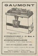 Z2145 Gaumont - Stereospido In Metallo - Pubblicità D'epoca - Advertising - Advertising