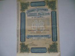 Action  Véhicules Industriels MIESSE / Ateliers De Buysinghen 1931 - Autres